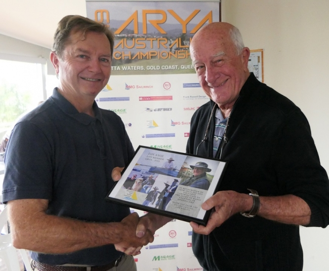 Ian Ashe awarded Life Membership of the QRYA